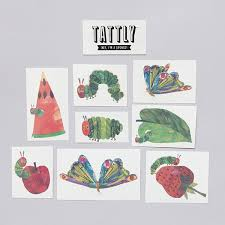 tattly designy temporary tattoos u2014 the very hungry caterpillar