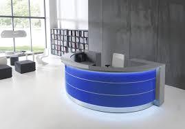 Corner Reception Desk Corner Reception Desk Semicircular Glass Aluminum Valde Mdd