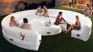 canapé lit gonflable meubles gonflables modernes de pvc de grande circulaire blanche