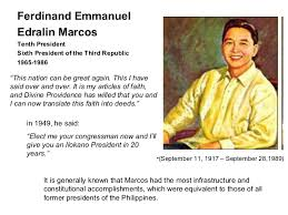 biography of ferdinand marcos president of the philippines