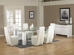 Glass Wood Dining Table Creditrestoreus - Contemporary glass dining table and chairs