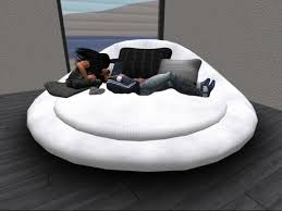Sofa Round Second Life Marketplace Cuddle Sofa Couch Round Daybed