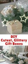 how to make the cutest glittery gift boxes blogger bests