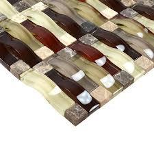 Stone Glass Tile Backsplash by Glass Mosaic Tile Interlocking Crystal Glass Tile Kitchen