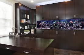 Aquarium Room Divider Fish Tank Room Divider Kitchen Tropical With Wood Floors Modern