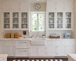 Glass Front Kitchen Cabinets Houzz - Glass cabinets for kitchen
