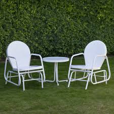 Outdoor Single Glider Chair Coral Coast Retro Vintage Outdoor Glider Loveseat Hayneedle