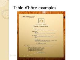 table d hote menu menu planning culinary technology the role of the menu the menu