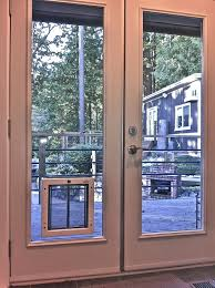 doors astounding doggie door for french doors patio french doors