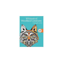 whimsical woodland creatures coloring book coloring for