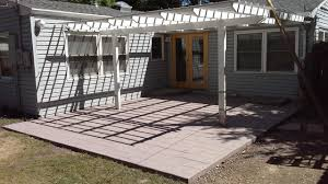 Pergola On Concrete Patio by Landscape Patio And Pergola Concrete Before And After Don King