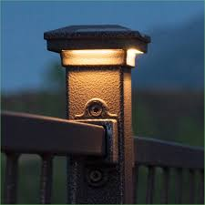 Solar Light Caps For Deck Posts by Lighting Post Caps For Decks Lighted Post Caps Solar Deck Post