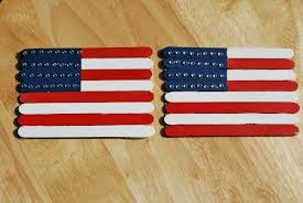 American Flag Magnet Popsicle Stick Flags A Pumpkin And A Princess
