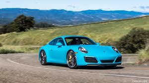 blue porsche 2017 porsche 911 carrera s color miami blue us spec front