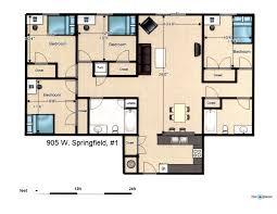 Captivating 4 Bedroom Luxury Apartment Floor Plans In Four Bedroom