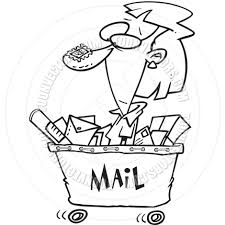 Living Room Clipart Black And White Cartoon Mailroom Worker Black And White Line Art By Ron Leishman
