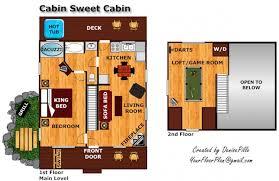 Cabin Floorplan Cabin Sweet Cabin A Gatlinburg Cabin Rental