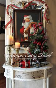 table decoration for christmas christmas entry table a décor challenge confessions of a
