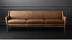 Patent Leather Sofa Affordable Modern Furniture Cb2