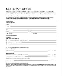sample real estate offer letter 6 documents in pdf word
