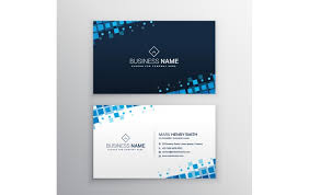 free name card with blue squares template name card templates