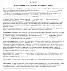 lease agreement template u2013 19 free word pdf documents download