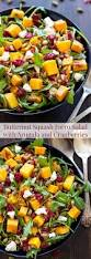 fruit salads for thanksgiving butternut squash farro salad with arugula and cranberries recipe