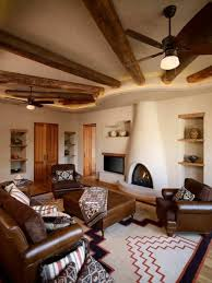 southwest area rugs southwestern style homes with southwest style fireplace and built
