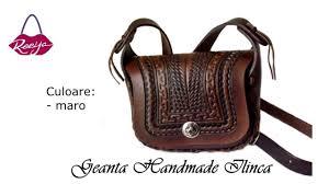 genti piele handmade geanta dama handmade piele ilinca reeija ro