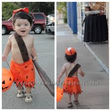easy and cheap diy bamm bamm costume for toddlers costume