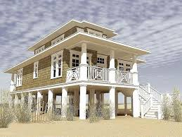 attractive design ideas beach house plans on pilings modest 1000