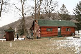 amish built chalet log cabin for sale in wisconsin log homes