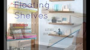 diy floating shelves diy floating shelves bathroom youtube