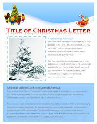 17 christmas newsletter templates u2013 free psd eps ai word