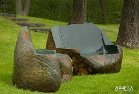 big boulder chairs made of boulder with a polished finish