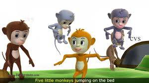 No More Monkeys Jumping On The Bed Song Five Little Monkeys Jumping On The Bed Nursery Rhyme 3d