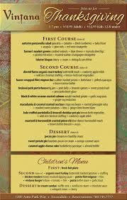 vintana s thanksgiving dinner cohn restaurant