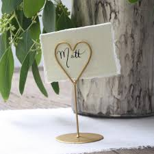 gold heart place card holders set of 8 u2013 the wedding of my dreams