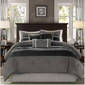 Silver Comforter Set Queen Black And Silver Comforter Sets In Shop Com Home Store