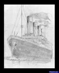 how to draw the titanic titanic step by step boats