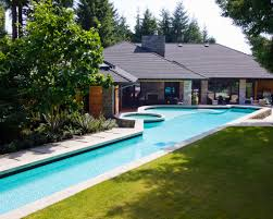 alka pool the lap pool stretches the length of the backyard with