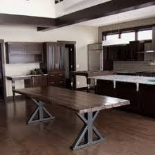 reclaimed wood table with metal legs 12 best mesas images on pinterest tables dining room and