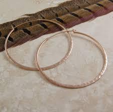 big gold hoop earrings battered gold large hoop earrings by otis jaxon silver