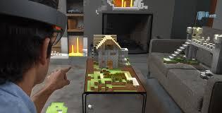 minecraft canapé jouer à minecraft avec le casque hololens de microsoft un rêve
