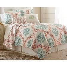 elise u0026 james home coral trellis quilt set bealls florida
