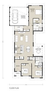 Awesome One Story House Plans House Plans For Narrow Lots With Rear Garage Excellent Stunning