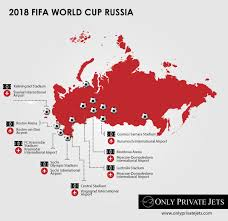 russia world cup cities map 2018 fifa world cup russia