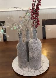 winter centerpieces diy winter wine bottles centerpiece the watermark at east
