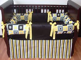 Gray And Yellow Crib Bedding Rowan Geometric Baby Bedding 1693 289 00 Modpeapod We Make