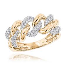 rings gold images 14k white rose yellow gold diamond miami cuban link ring mens by jpg
